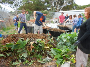 Compost making at Burnside Organic Farm