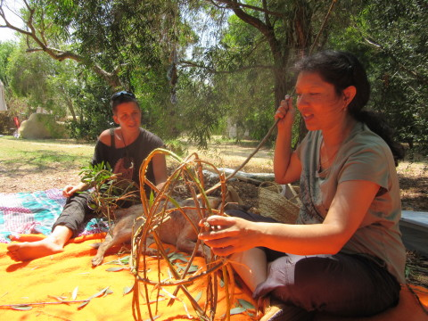 Weaving with women and International Women's Day 2015