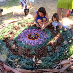 a mandala made with Elaine at International Women's Day