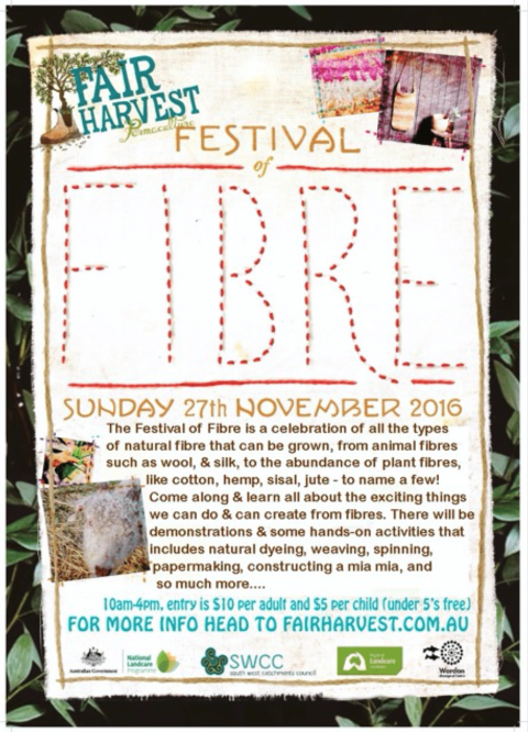 Program for the  Festival of Fibre Nov 27th 2016